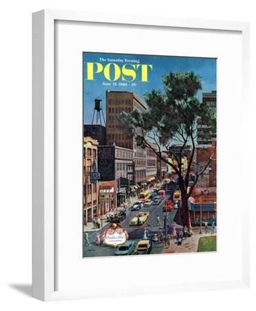 """Peachtree Street,"" Saturday Evening Post Cover, June 25, 1960"