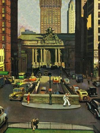 """""""Pershing Square,"""" May 19, 1945 by John Falter"""