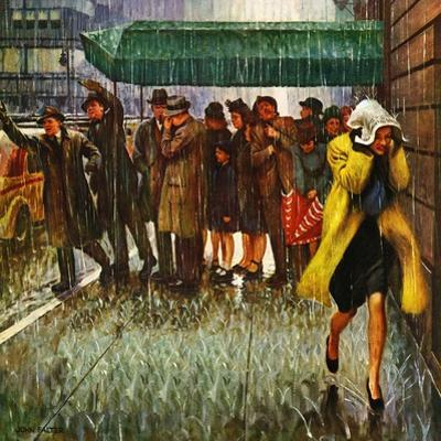 """Rainy Wait for a Cab,"" March 29, 1947 by John Falter"