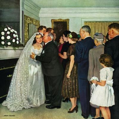 """""""Receptions Line"""", June 16, 1951 by John Falter"""