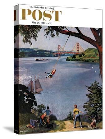 """""""San Francisco Bay Boys"""" Saturday Evening Post Cover, May 26, 1956"""