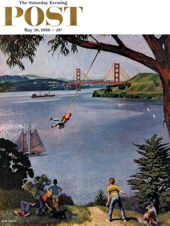 """""""San Francisco Bay Boys"""" Saturday Evening Post Cover, May 26, 1956 by John Falter"""