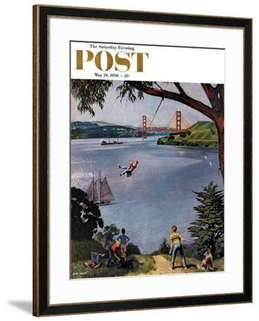 """San Francisco Bay Boys"" Saturday Evening Post Cover, May 26, 1956 by John Falter"