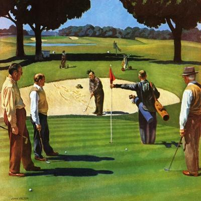 """Sand Trap,"" July 3, 1948 by John Falter"