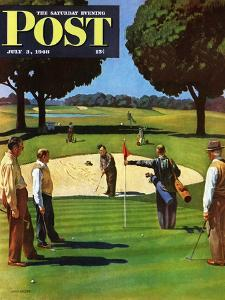 """""""Sand Trap,"""" Saturday Evening Post Cover, July 3, 1948 by John Falter"""