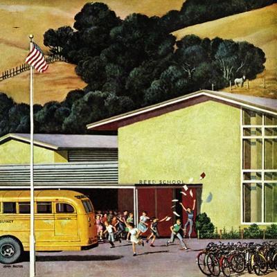 """School's Out"", June 21, 1958 by John Falter"