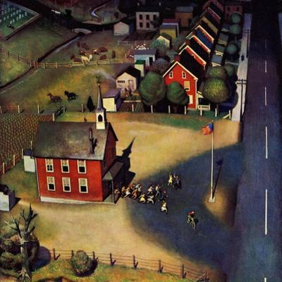 """School's Out,"" June 9, 1945 by John Falter"