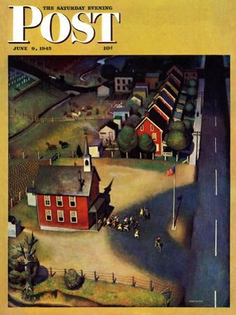"""School's Out,"" Saturday Evening Post Cover, June 9, 1945 by John Falter"