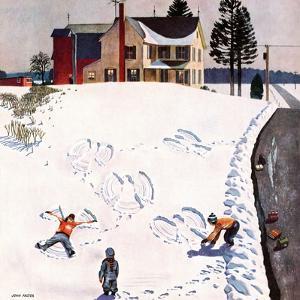 """Snow Angels"", January 10, 1953 by John Falter"