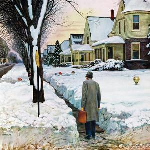 """Snowy Ambush"", January 24, 1959 by John Falter"