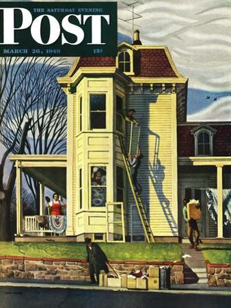 """Spring Cleaning,"" Saturday Evening Post Cover, March 26, 1949 by John Falter"