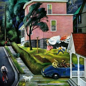 """""""Spring Storm Blowing In"""", April 26, 1952 by John Falter"""