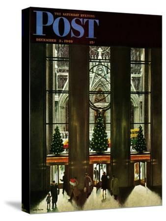 """""""St. Patrick's Cathedral at Christmas,"""" Saturday Evening Post Cover, December 3, 1949"""