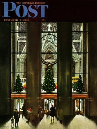 """St. Patrick's Cathedral at Christmas,"" Saturday Evening Post Cover, December 3, 1949 by John Falter"