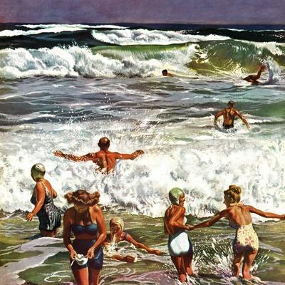 """""""Surf Swimming,"""" August 14, 1948"""