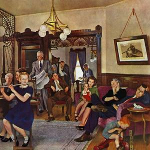 """""""Thanksgiving Flute Performance,"""" November 30, 1946 by John Falter"""