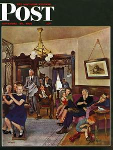 """Thanksgiving Flute Performance,"" Saturday Evening Post Cover, November 30, 1946 by John Falter"