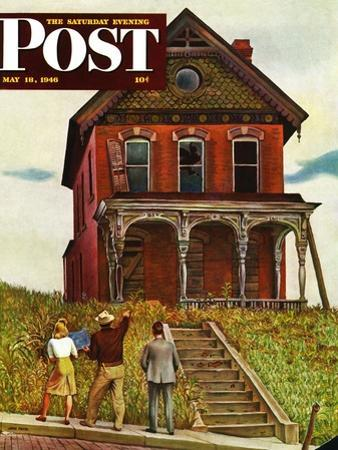 """This Old House,"" Saturday Evening Post Cover, May 18, 1946 by John Falter"