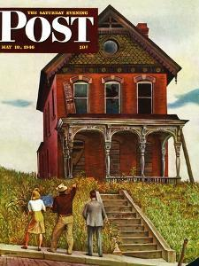 """""""This Old House,"""" Saturday Evening Post Cover, May 18, 1946 by John Falter"""