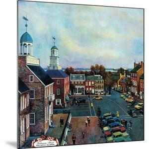 """""""Town Square, New Castle Delaware,"""" March 17, 1962 by John Falter"""