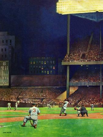 """Yankee Stadium,"" April 19, 1947 by John Falter"