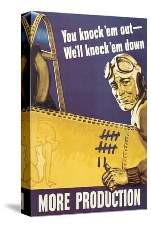 You Knock'em Out We'll Knock'em Down by John Falter