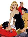 """The Mystery of X - Saturday Evening Post """"Leading Ladies"""", October 1, 1955 pg.35-John Fernie-Giclee Print"""