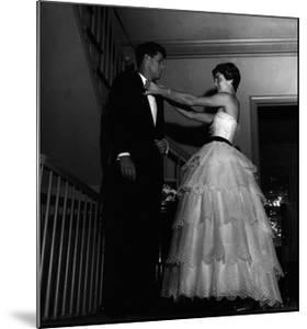 John Fitzgerald Kennedy and Jacqueline Kennedy Getting Ready for a Reception