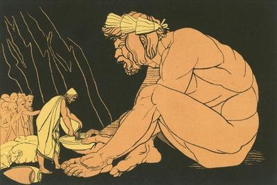 Ulysses Giving Wine to Polyphemus