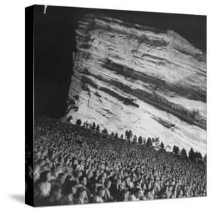 Creation Rock Dwarfs Audience during Concert Directed by Igor Stravinsky at Red Rocks Amphitheater by John Florea