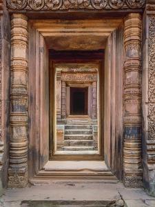 Asia, Cambodia, Angkor Wat Entryway by John Ford