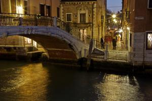 Europe, Italy, Venice, Night Canal by John Ford