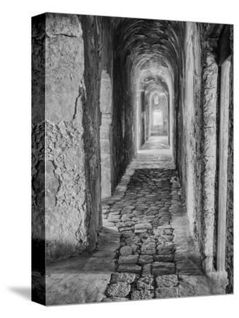 Mexico, Mani Hallway in Deserted Convent