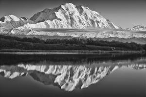 USA, Alaska, Denali, Mt. Mckinley from Wonder Lake by John Ford