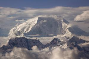 USA, Alaska, Denali, Mt. Mckinley Summit in Clouds by John Ford