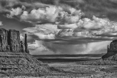USA, Arizona, Monument Valley Approaching Storm