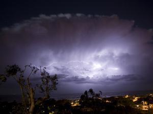 USA, California, del Mar Lightning Storm by John Ford