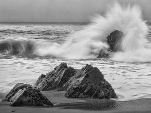 USA, California, Garrapata Beach, Crashing Surf by John Ford
