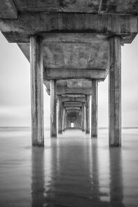 USA, California, La Jolla, Scripps Pier, Sunrise by John Ford
