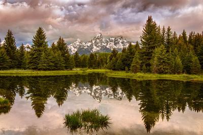 USA, Wyoming, Grand Teton's National Park Schwabacher Landing Sunrise