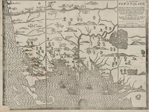 The Map of New England (From: William Hubbard's the Present State of New-England), 1677 by John Foster