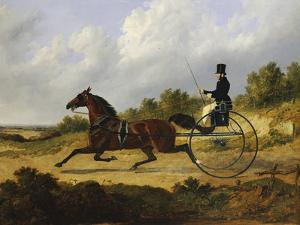 Confidence, Drawing a Gig Driven by a Groom, Dated 1842 by John Frederick Herring I