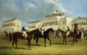 Preparing to Start for the Emperor of Russia's Cup at Ascot, 1845 by John Frederick Herring I