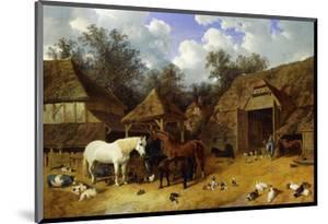 The Artist's Farmyard at Meopham, Kent by John Frederick Herring I