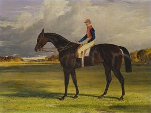 The Earl of Chesterfield's Filly 'Industry', with W. Scott Up, in a Landscape by John Frederick Herring I