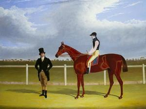 The Hon. E. Petre's Rowton with W. Scott Up, and His Trainer at Doncaster by John Frederick Herring I