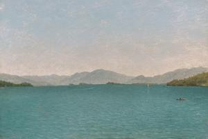 Lake George, Free Study, 1872 by John Frederick Kensett
