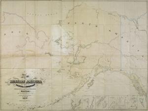 Map of Russian America or Alaska Territory, 1867 by John Frederick Lewis