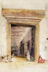 The Great Doorway of the Mosque of Santa Sophia, Constantinople by John Frederick Lewis