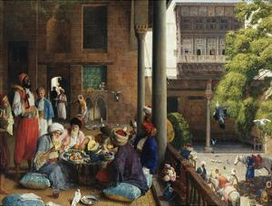 The Midday Meal, Cairo, Egypt by John Frederick Lewis